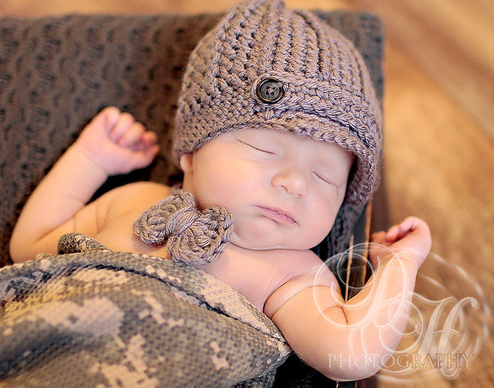 Newborn Boy Hat & Bow Tie - product image