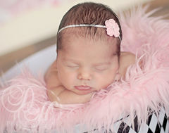 Baby Girl Headband, Pink, Newborn - product images 3 of 4