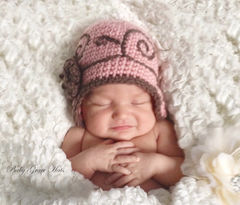 Cute Newborn Girl Crochet Hat - product images 2 of 5