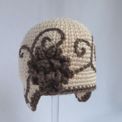Cute Newborn Girl Crochet Hat - product images 4 of 5