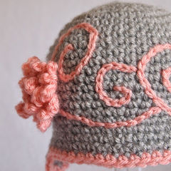 Cute Newborn Girl Crochet Hat - product images 5 of 5