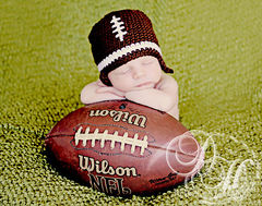 Baby Football Hat, Newborn Crochet Hat - product images 1 of 4