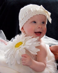 Baby Crochet Hat, Newborn Ballerina Hat, Ivory - product images 4 of 5
