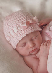 Baby Crochet Hat, Newborn Ballerina Hat, Ivory - product images 5 of 5