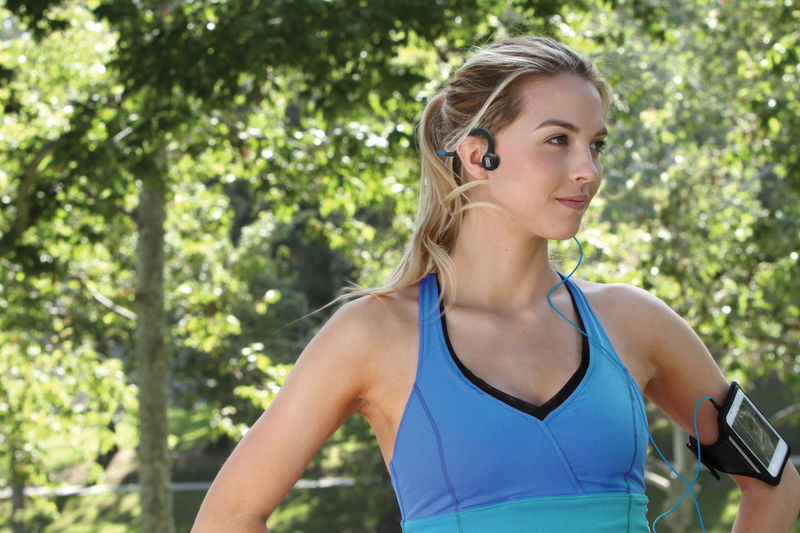 Aftershokz Titanium Wired Bone Conducting Headphones - product images  of