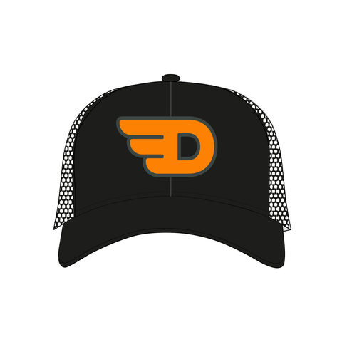 DEKA,Flying,D,Flexfit,Snapback,Black,Trucker,Cap,trucker cap, flexfit, flying D, cap