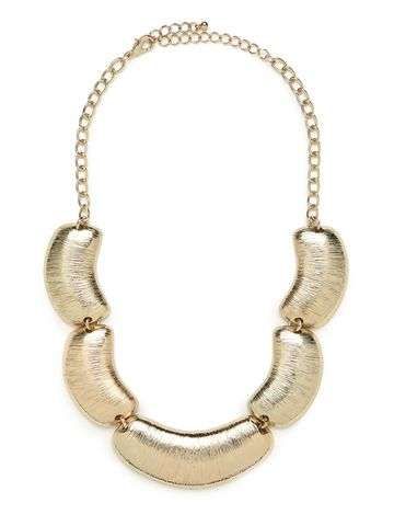 BRUSHED,GOLD,SCALLOP,NECKLACE