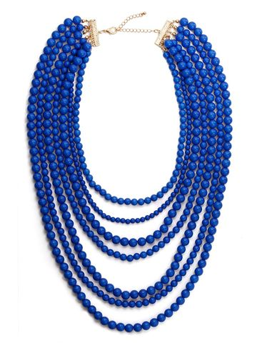 COBALT,SEVEN,LAYER,NECKLACE