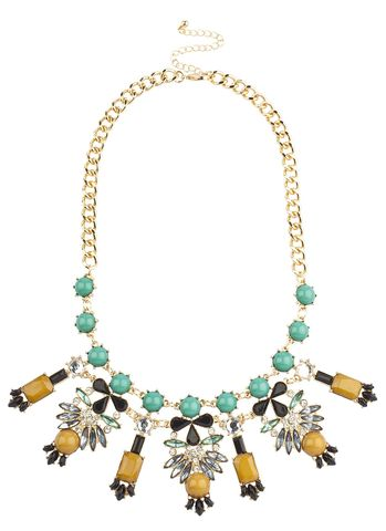 DUST,TOPAZ,BIB,NECKLACE