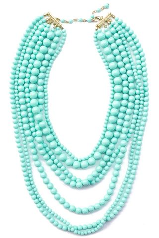 TURQUOISE SEVEN LAYER NECKLACE - product images  of
