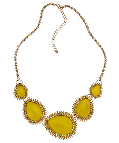 SUN,TEARDROP,BIB,NECKLACE,SUN TEARDROP BIB NECKLACE