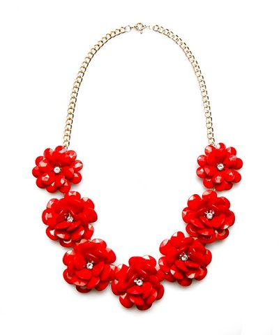 FULL,BLOOM,BIB,NECKLACE,-,(CORAL),FULL BLOOM BIB NECKLACE