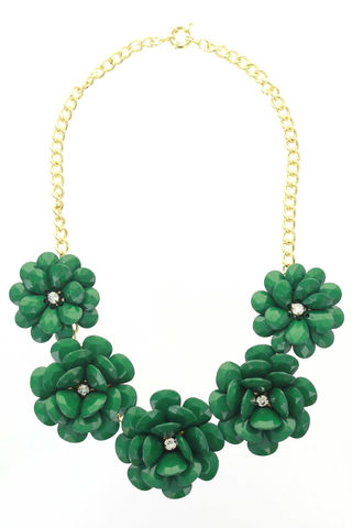 FULL,BLOOM,BIB,NECKLACE,-,(GREEN),FULL BLOOM BIB NECKLACE