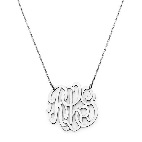 SMALL SCRIPT MONOGRAM - SILVER - product images  of