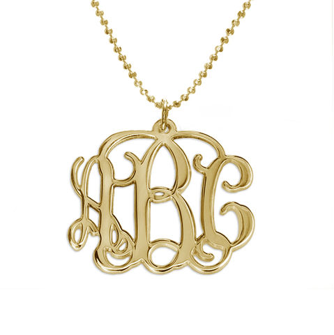 MONOGRAM,NECKLACE,Monogram Necklace, Gold Monogram Necklace
