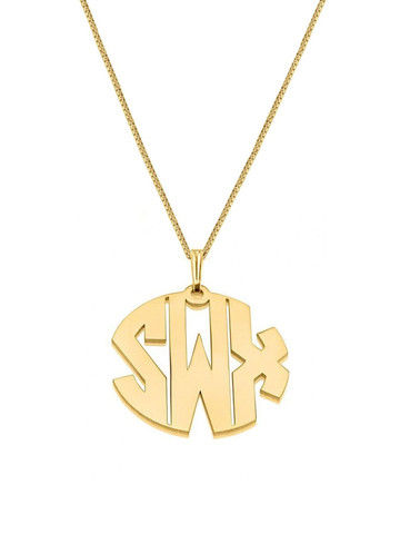 BOLD,MONOGRAM,NECKLACE,Monogram Necklace, Gold Monogram Necklace