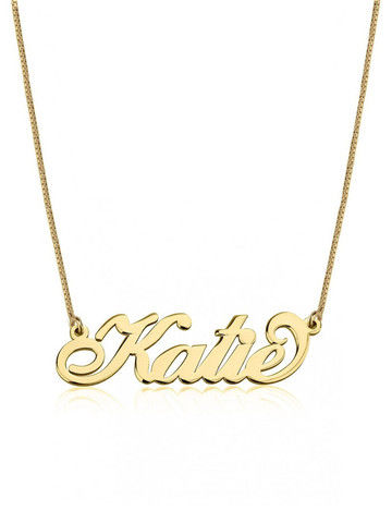 THE,SIGNATURE,CARRIE,NECKLACE,Monogram Necklace, Name Plate Necklace, Name Bar Necklace