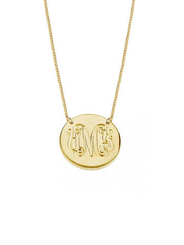 MEDALLION ENGRAVED PENDANT  - product images  of