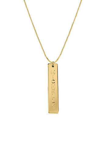 VERTICAL,BAR,NAME,NECKLACE,Monogram Necklace, Name Plate Necklace, Name Bar Necklace, name tag, bar name plate