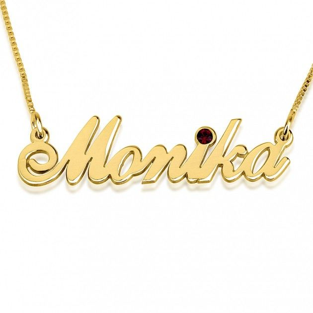 Swarovski Crystal Name Necklace - product images  of