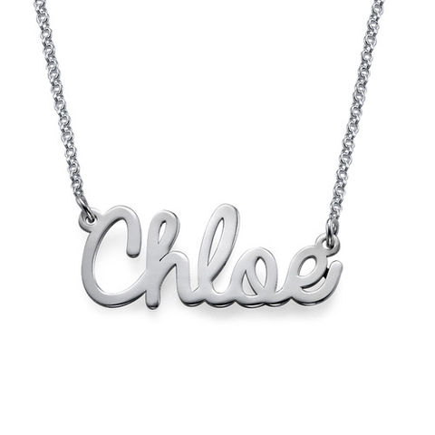 CHLOE,CURSIVE,NAME,NECKLACE