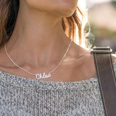 Chloe Cursive Name Necklace Pynk Luxe