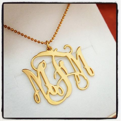 MONOGRAM NECKLACE  - product images  of