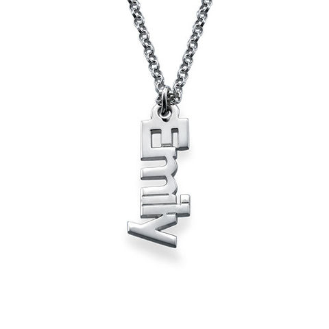 VERTICAL NAME NECKLACE - product images  of