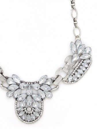 CRYSTAL ICE PRINCESS NECKLACE - SILVER - product images  of
