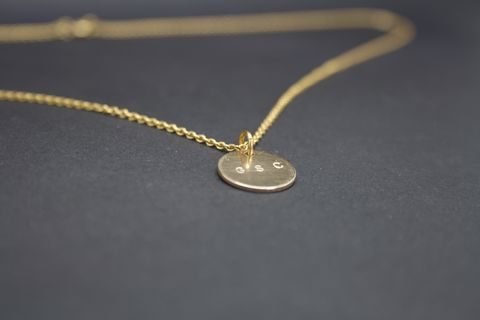 Gold,Disc,Necklace,Gold Disc Necklace
