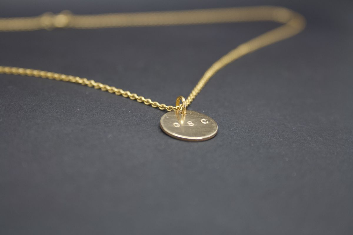 Gold Disc Necklace G S C