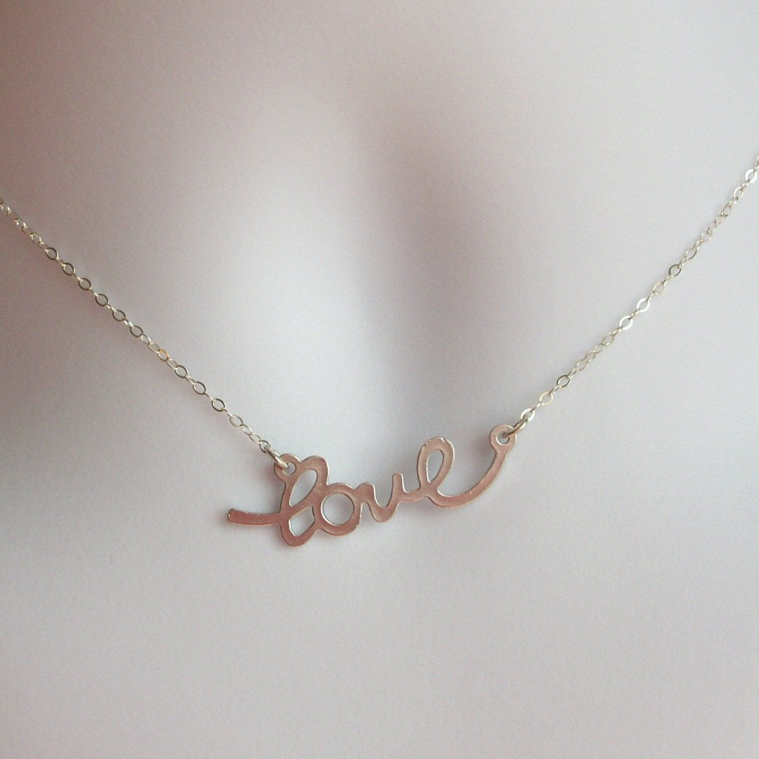 delicate silver sterling cursive product luulla name hugerect on necklace