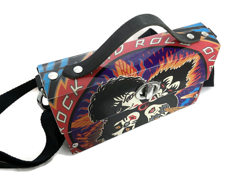 Kiss Rock and Roll Over Actual Record Album Cover Bag - product images  of