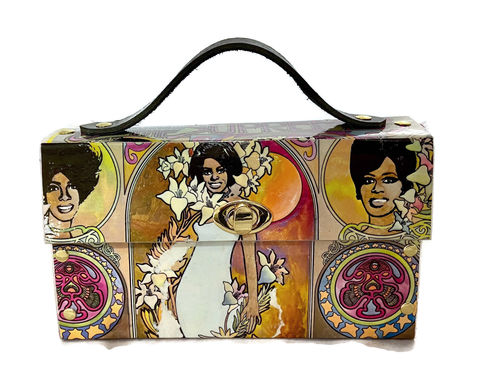 Diana,Ross,and,the,Supremes,Record,Album,Cover,Bag,Diana Ross, 1960s music, motown, the supremes, bespoke bag, unique music bag, unconventional materials fashion