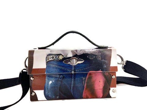 Bruce,Springsteen,Born,in,the,USA,Record,Album,Cover,Bag,Bruce Springsteen collectible, unconventional materials fashion, unique handbag, music lover gift