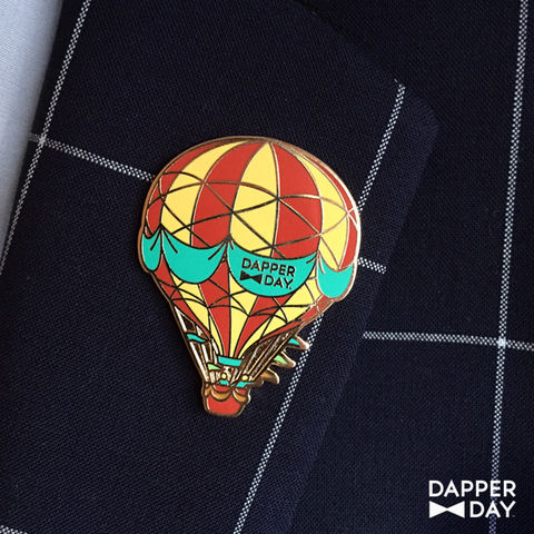 DAPPER,DAY,Hot,Air,Balloon,Pin