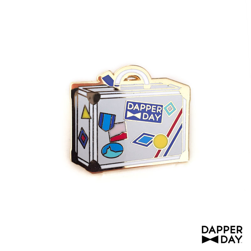 DAPPER DAY Luggage Lapel Pin, White - product images  of