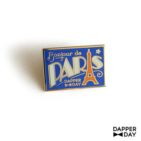DAPPER,DAY,Postcard,Pin,,Paris,lapel pin Dapper Day