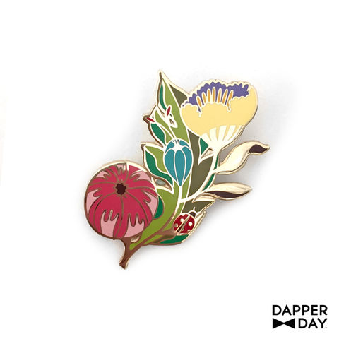 Garden,Party,Pin,Dapper Day lapel pin floral spray