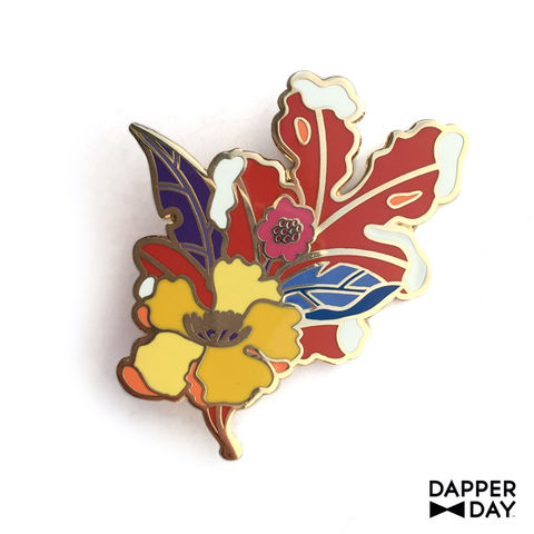 First,Frost,Leaf,Pin,brooch lapel pin Dapper Day Boutonnière