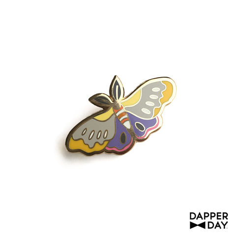 Pastel,Moth,Pin,moth Lapel Pin Dapper Day