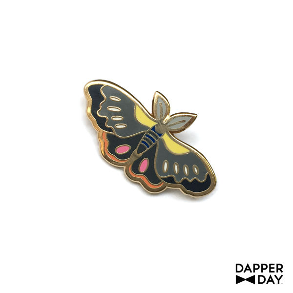 Charcoal Moth Pin - product images  of