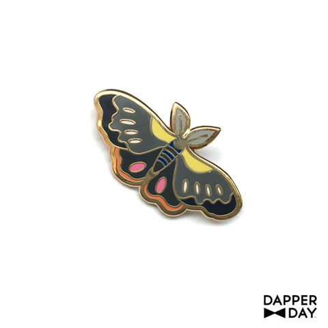 Charcoal,Moth,Pin,moth Lapel Pin Dapper Day