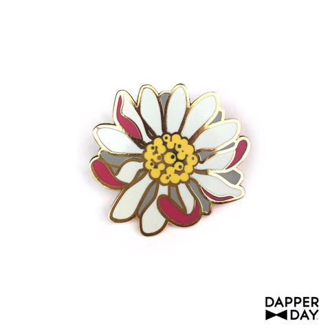 Fallen,Flower,Pin,pink flower Lapel Pin Dapper Day
