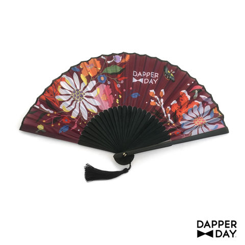 First,Frost,Fan,(Plum),Dapper Day floral fan