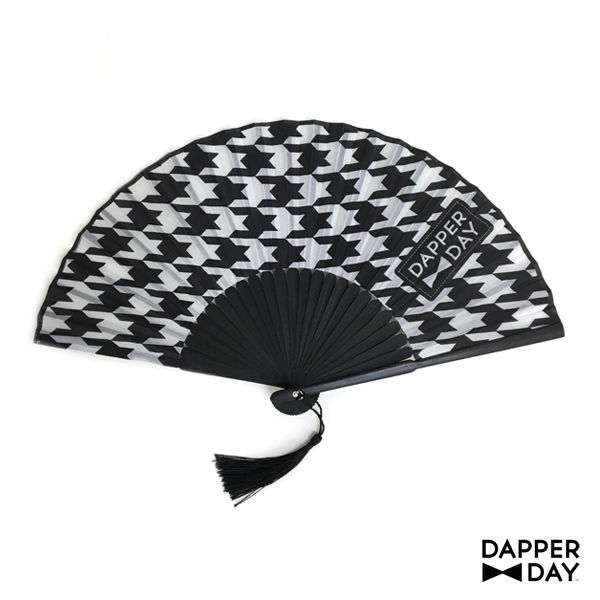 Houndstooth Print Fan - product images