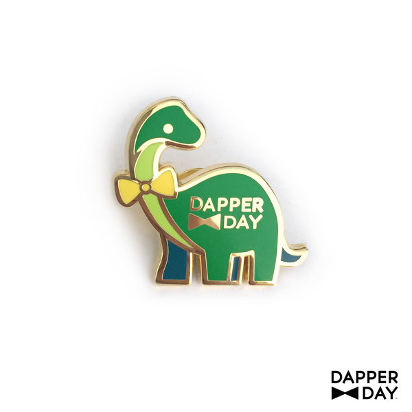 Dapper Dino Pin in Green - product images  of