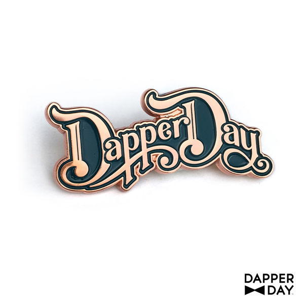 Rose Gold DAPPER DAY Script Pin - product images  of
