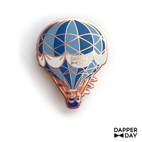 Rose Gold Hot Air Balloon Pin in Blues - product images  of