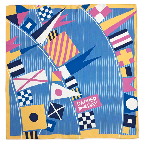 Flags Ahoy Silk Scarf - product images  of